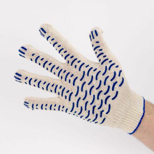 Перчатки рабочие 10 класс 3 нити с ПВХ Волна