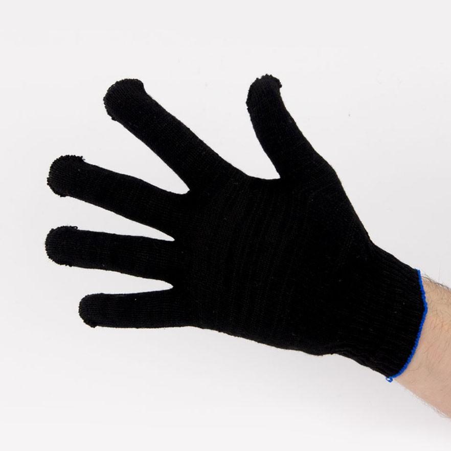 Перчатки рабочие 10 класс 4 нити черные