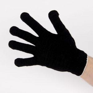Перчатки рабочие 10 класс 5 нитей черные