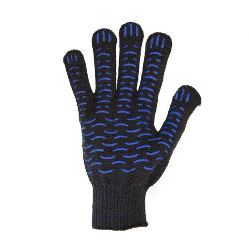 Перчатки рабочие 10 класс 6 нитей с пвх волна черные