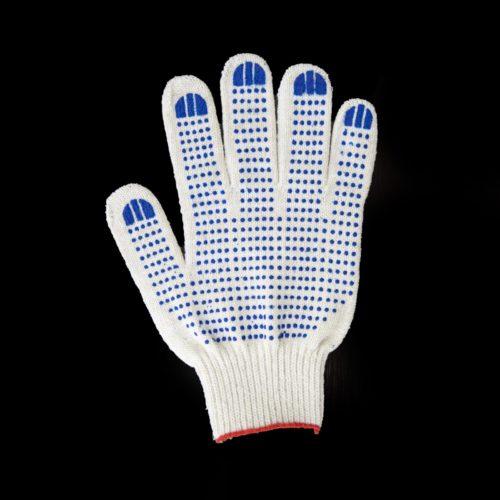Перчатки ХБ с ПВХ точка 6 нитей
